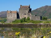 picture of william wallace  - Eilean Donan Castle near Dornie Scotland on a rare sunny day - JPG