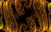 pic of funeral home  - abstract image resembling blonde curls of licking flames - JPG