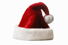 pic of santa claus hat  - Santa Claus Hat isolated on white background - JPG