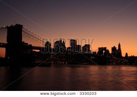 Brooklyn Bridge Silhouette
