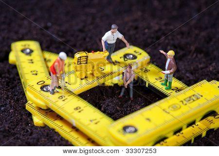 Maintenance Team Repairing A Road