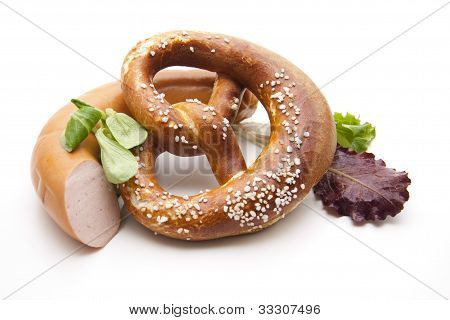 Lye pretzel with salt