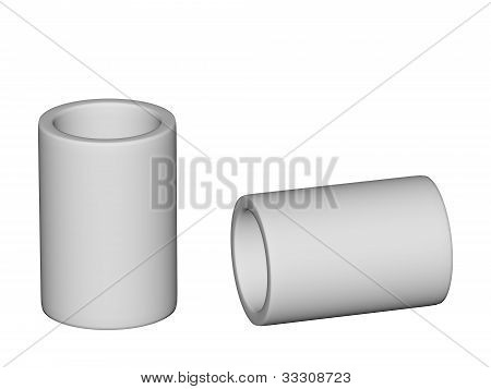Fitting - Pvc Connection Coupler Isolated On White Background