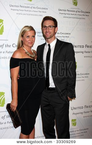 LOS ANGELES - MAY 21:  Jessica Capshaw, Christopher Gavigan arrives at the 2012 United Friends of the Children Gala  at Beverly Hilton Hotel on May 21, 2012 in Beverly Hllls, CA