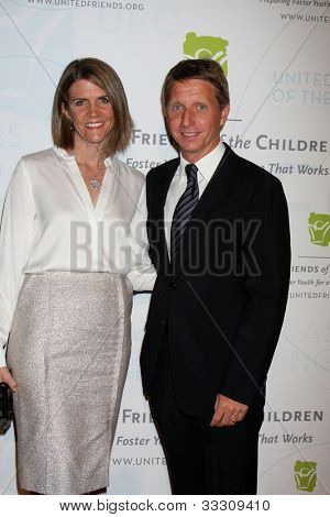 LOS ANGELES - MAY 21:  Colleen Bell, Brad Bell arrives at the 2012 United Friends of the Children Gala  at Beverly Hilton Hotel on May 21, 2012 in Beverly Hllls, CA