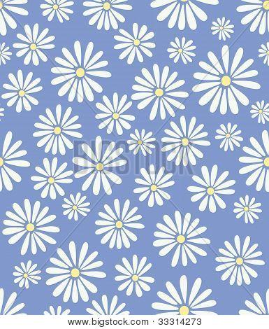 Doris Day Flowers On Lavender Seamless Tile