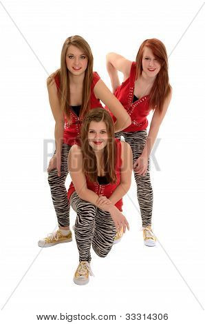 Girls Teenage Hip Hop Dance Trio