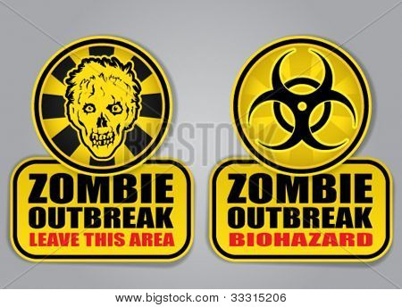 Zombie Outbreak Biohazard warning signals