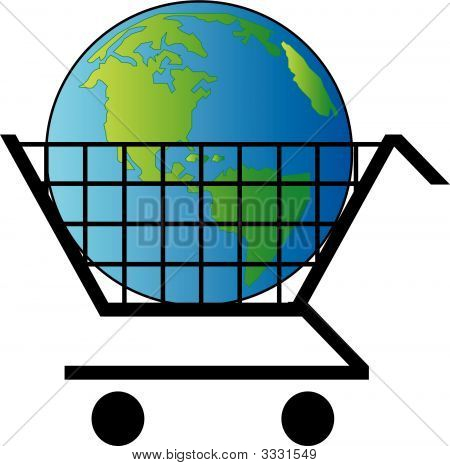 Shopping Cart W Earth