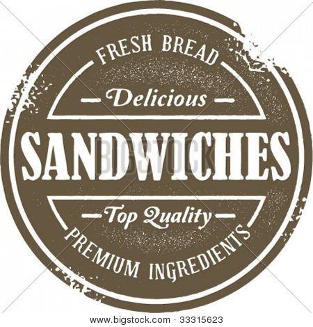 Vintage Style Sandwich Menu Stamp