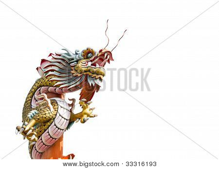 Dragon On A White Background