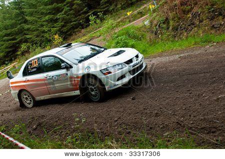 G. Lucey Driving Mitsubishi Evo