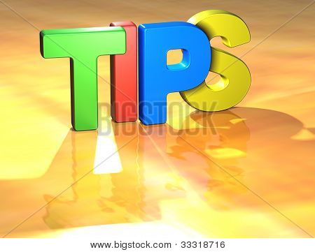 Word Tips On Yellow Background