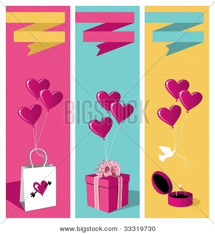 Lovers Day Banner Set