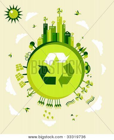Ilustración de tierra verde