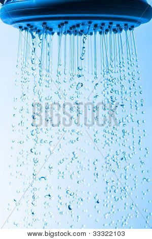 Shower Head With Droplet Water
