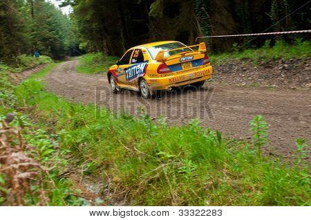 P. Barrett Driving Mitsubishi Evo