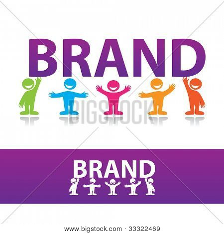 Creating a brand. Vector illustration.