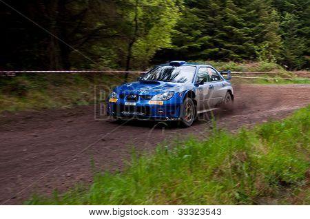 M. Cairns Driving Subaru Impreza