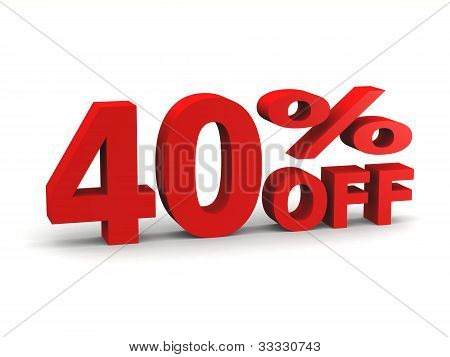 Forty Percent Off