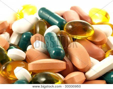 Colorful Pills, Closeup