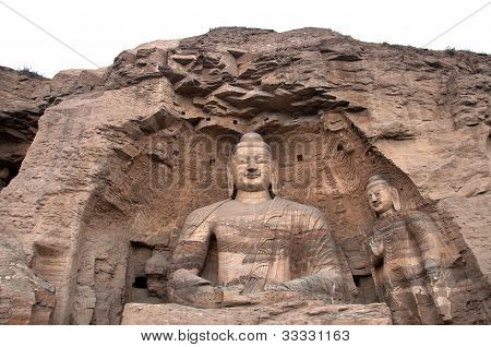 Giant Buddha At The Yungang Grottoes, Shanxi