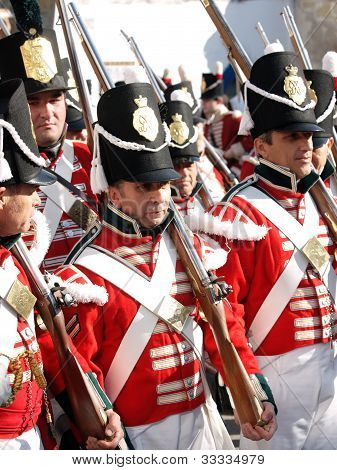 historic british soldiers