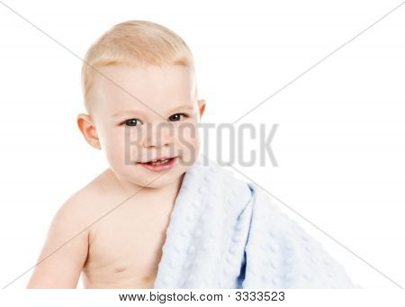 Baby Toddler Boy With Blankie 1