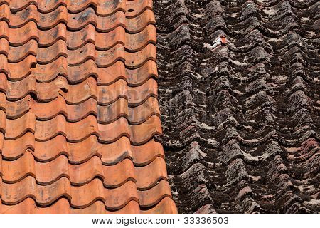 Red And Old Roof Tiles