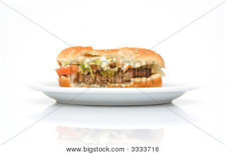 Hamburger On A Plate