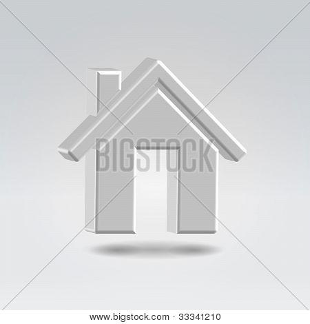 Metallic House  Icon