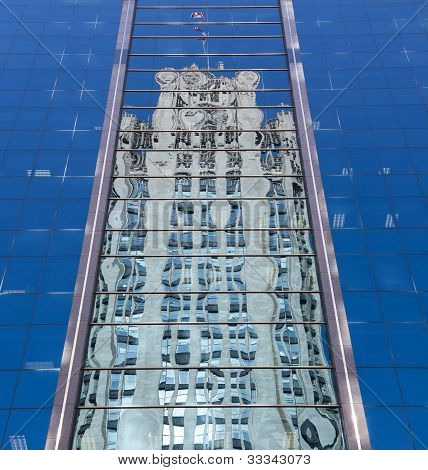Reflection Of Chicago Tribune Tower
