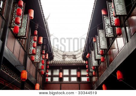 traditional buildings in Jinli, Sichuan, China
