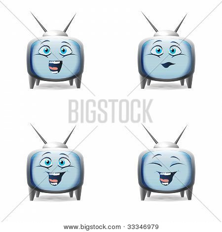 Funny Cartoon Retro Tv Character Kid