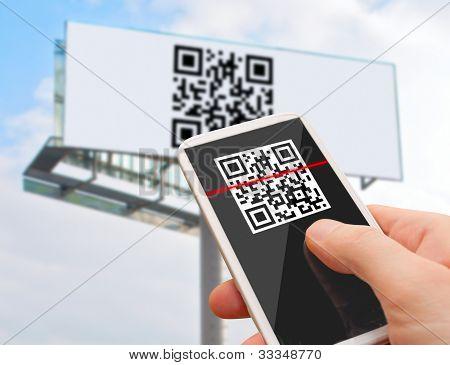Código QR no Smartphone