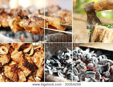 Collage From Barbecue Images
