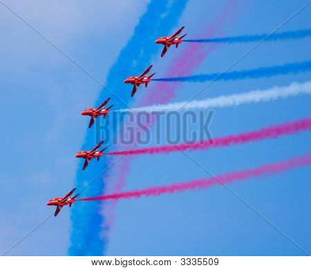 Fighter Jets With Colored Smoke Trails