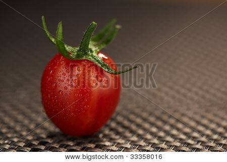 Single Wet And Small Tomato