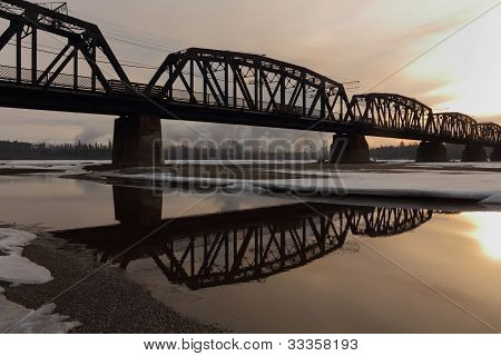 Prince George Rail Bridge, Fraser River