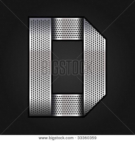 Letter metal chrome ribbon - D