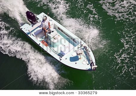 Small Open Fishing Boat