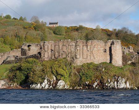 Urquhart Castle in Schottland.