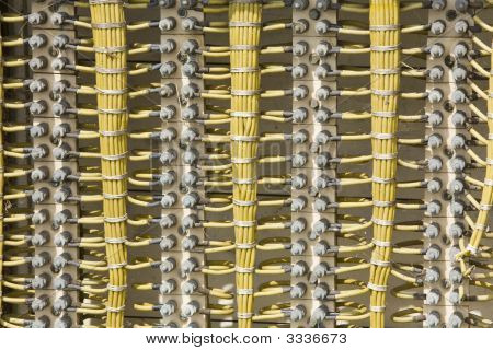 Cables Of Electric Wiring Background