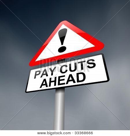 Pay Cut Concept.