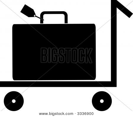 Luggage On Rolling Cart