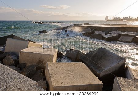 Breakwater rocks