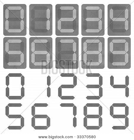 digital number leather texture style isolated