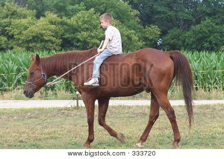 Boy Riding Bareback