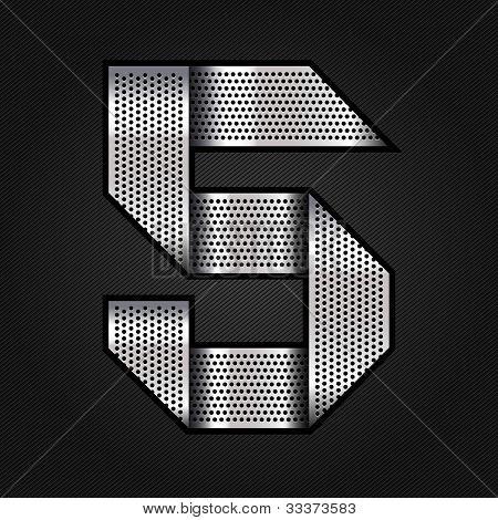 Number metal chrome ribbon - 5 - five