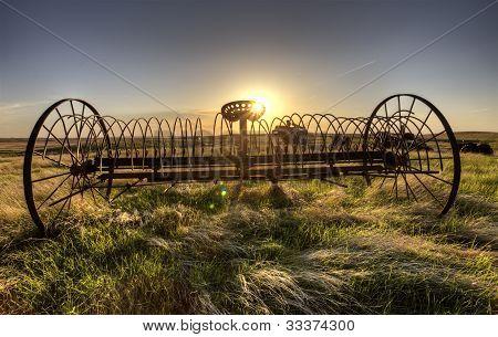 Antique Farm Equipment Hay Rake